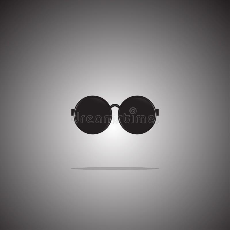 Stile piano dell'icona degli occhiali da sole sul fondo di pendenza Vettore Illustrazione royalty illustrazione gratis