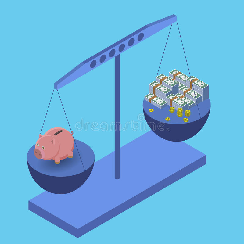 Stile piano dell'illustrazione di vettore di concetto di affari illustrazione di stock