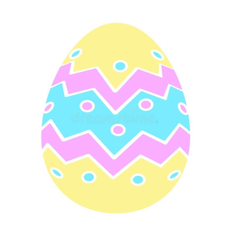 Stile piano delle icone dell'uovo di Pasqua di colore illustrazione vettoriale