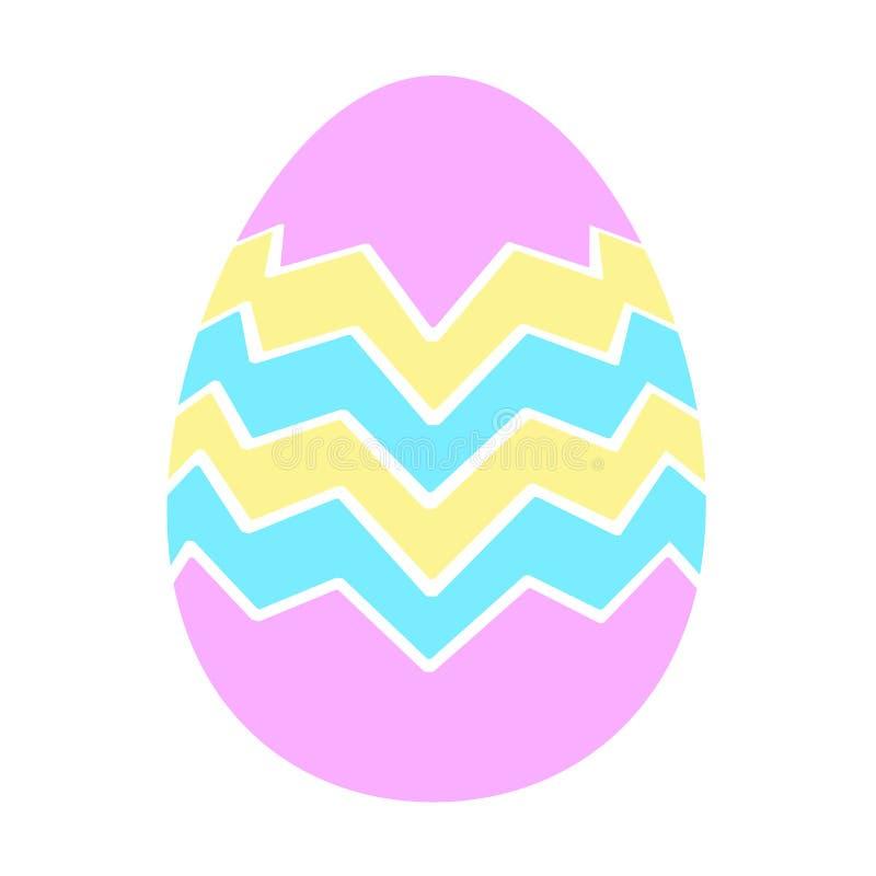 Stile piano delle icone dell'uovo di Pasqua di colore illustrazione di stock