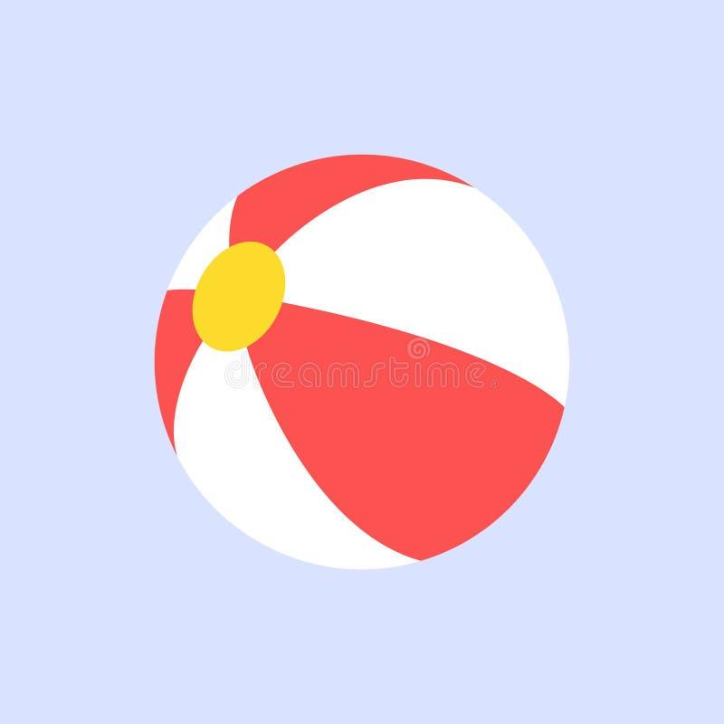 Stile piano di progettazione del beach ball su fondo blu royalty illustrazione gratis