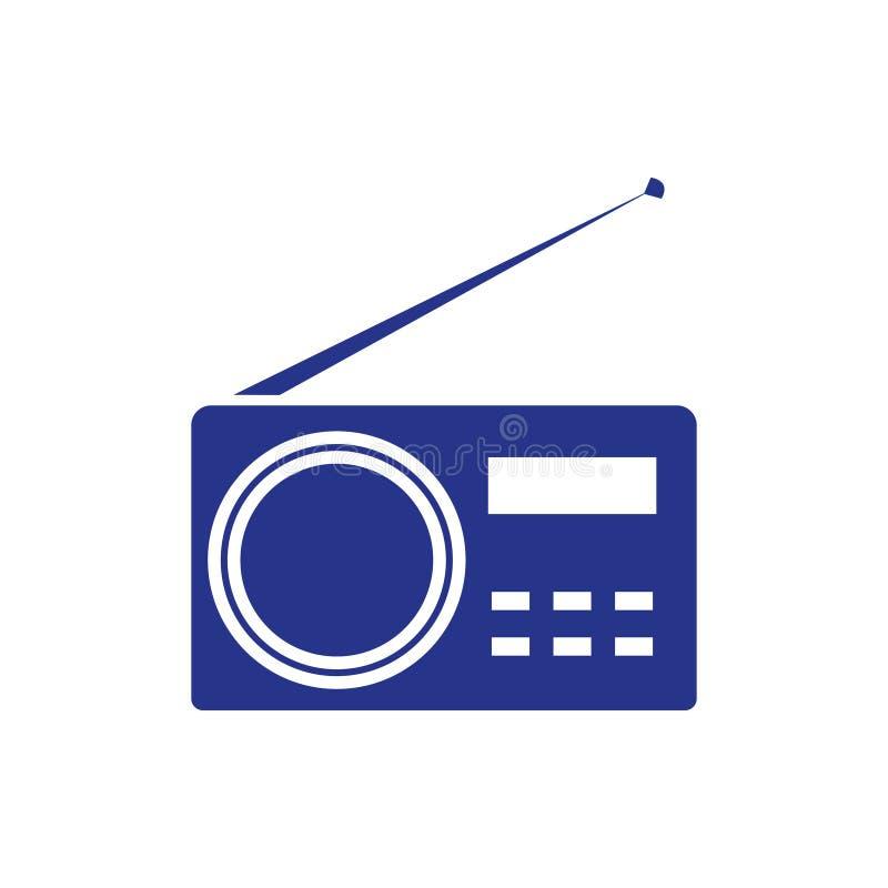 Stile piano di progettazione dell'icona delle azione dell'illustrazione radiofonica di vettore illustrazione di stock