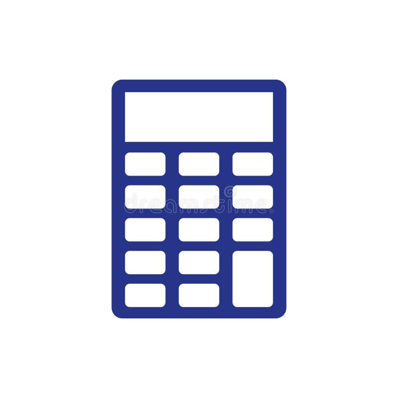 Stile piano di progettazione dell'illustrazione di vettore delle azione dell'icona del calcolatore royalty illustrazione gratis