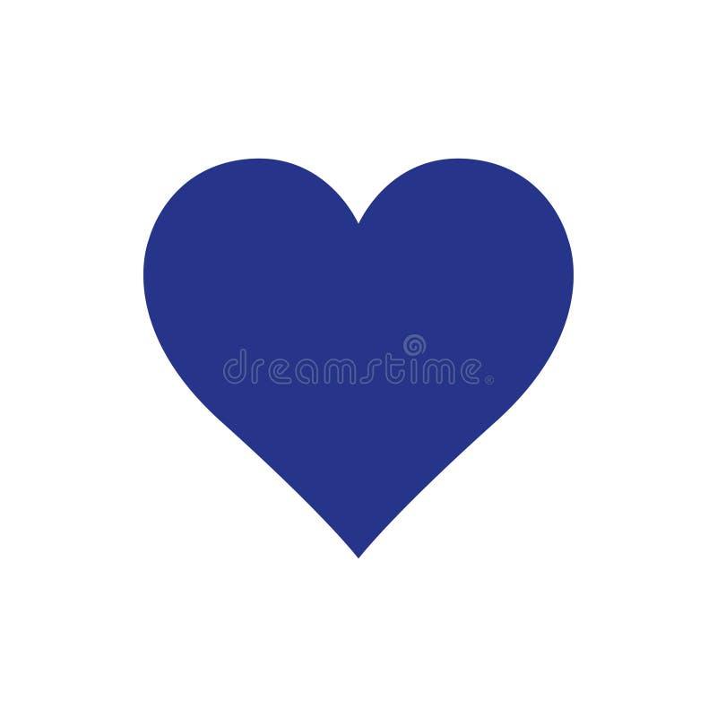 Stile piano di progettazione dell'illustrazione di vettore delle azione dell'icona del cuore royalty illustrazione gratis