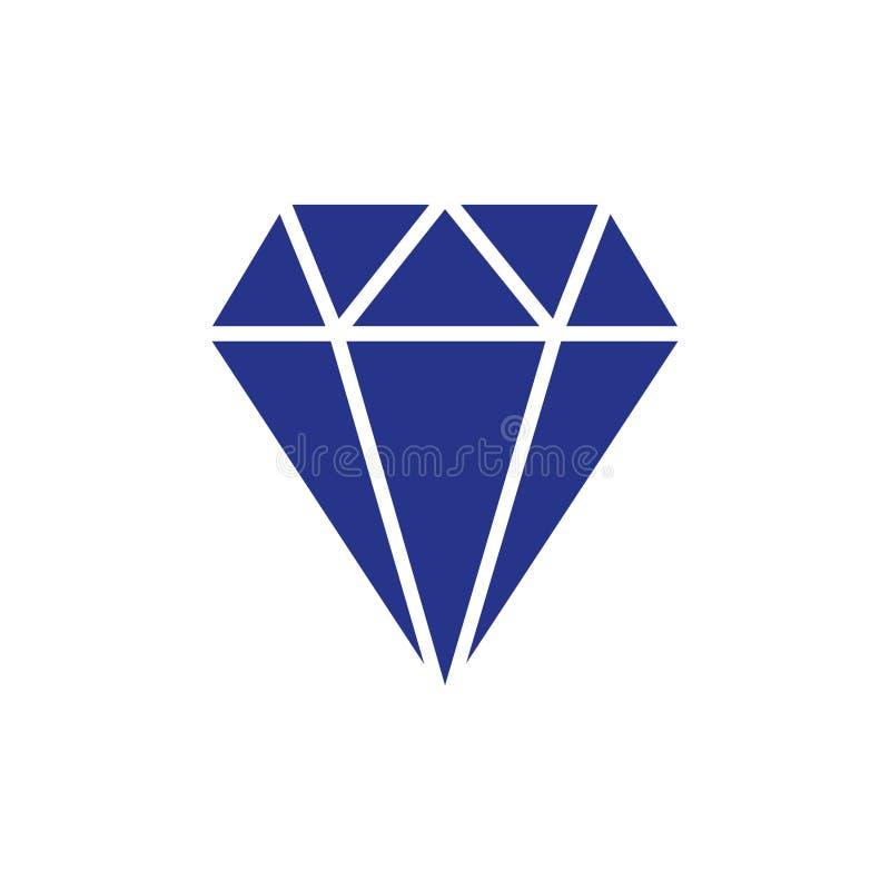 Stile piano di progettazione dell'illustrazione di vettore delle azione dell'icona del diamante illustrazione vettoriale