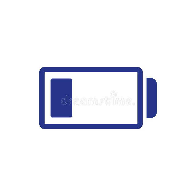 Stile piano di progettazione dell'illustrazione di vettore delle azione dell'icona della batteria illustrazione di stock