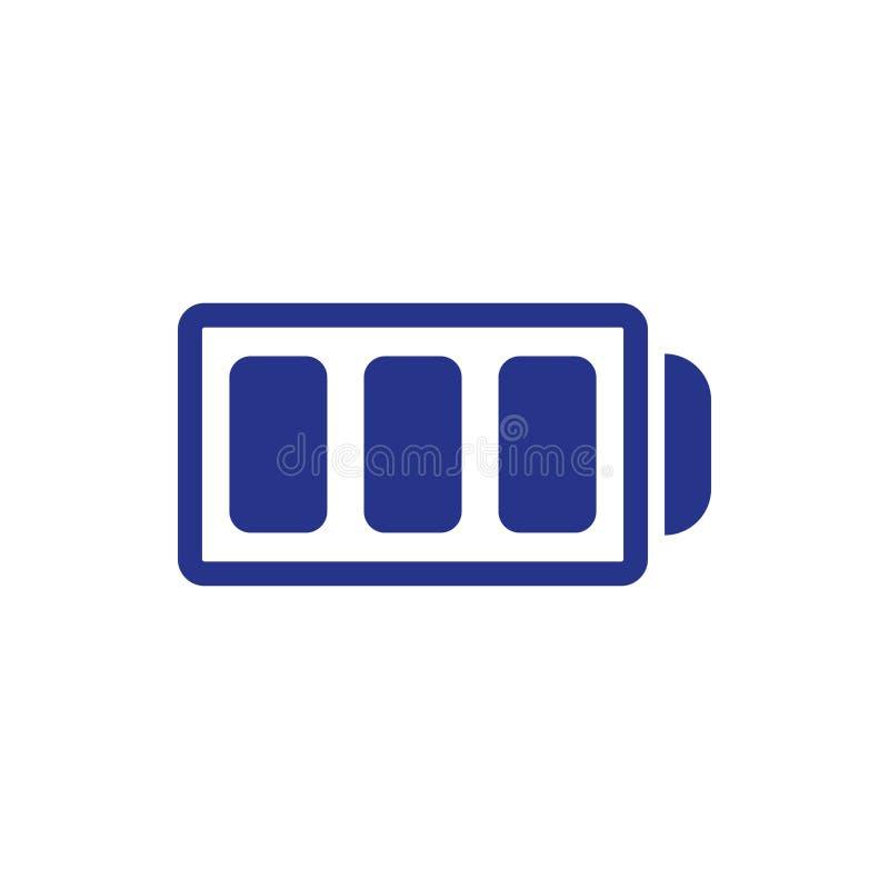 Stile piano di progettazione dell'illustrazione di vettore delle azione dell'icona della batteria illustrazione vettoriale