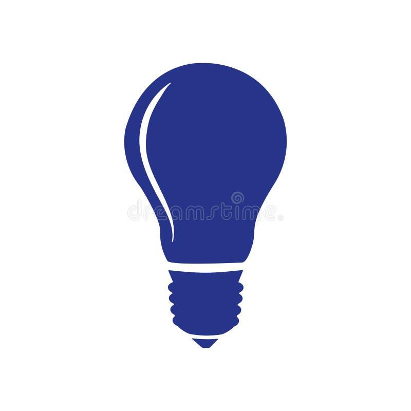 Stile piano di progettazione dell'illustrazione di vettore delle azione dell'icona della lampadina royalty illustrazione gratis