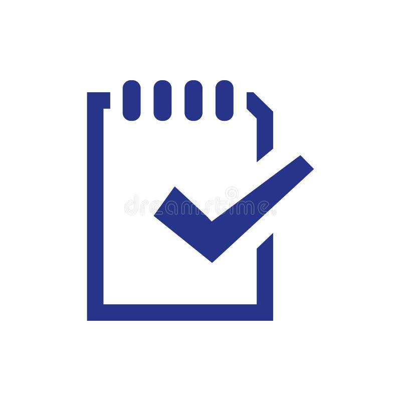 Stile piano di progettazione dell'illustrazione di vettore delle azione dell'icona della lista di controllo royalty illustrazione gratis