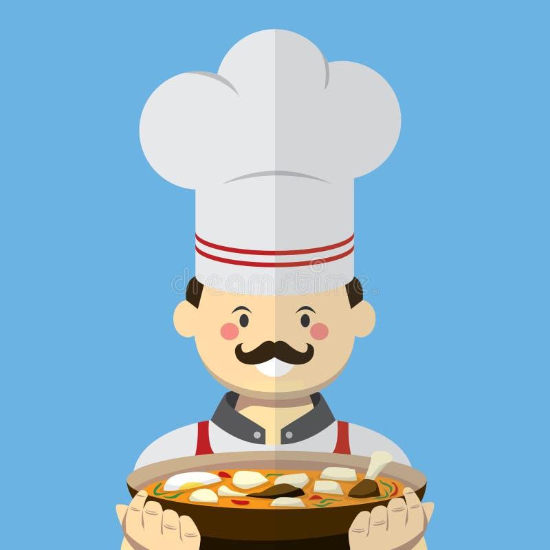 Stile piano di vettore del cuoco unico immagini stock