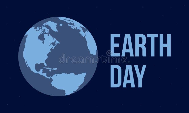 Stile piano di vettore di giornata per la Terra royalty illustrazione gratis