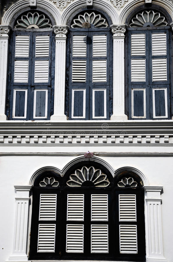 Stile portoghese di architettura di Chino fotografia stock