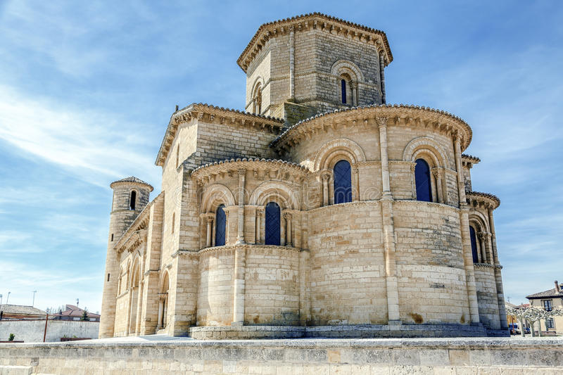 Stile romanico in Fromista, Palencia fotografie stock libere da diritti