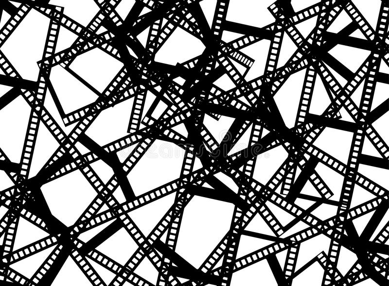 Stile senza cuciture bianco nero dell'annata del modello delle strisce di pellicola illustrazione vettoriale