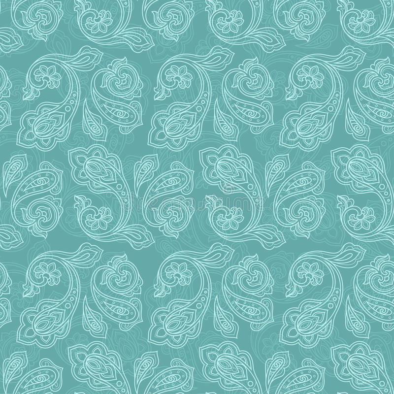 Stile senza cuciture del turchese del modello del cetriolo turco illustrazione vettoriale