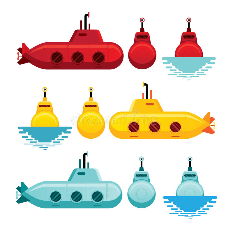 Stile sottomarino del fumetto illustrazione di stock