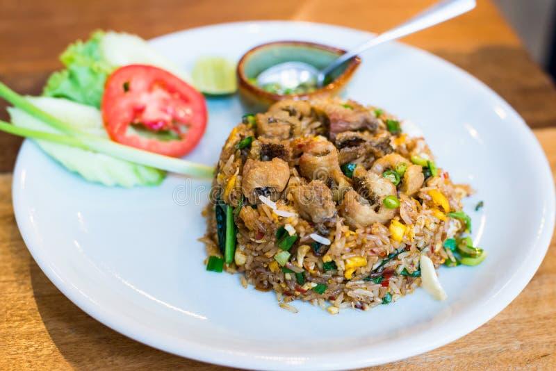 Stile tailandese del riso fritto immagine stock