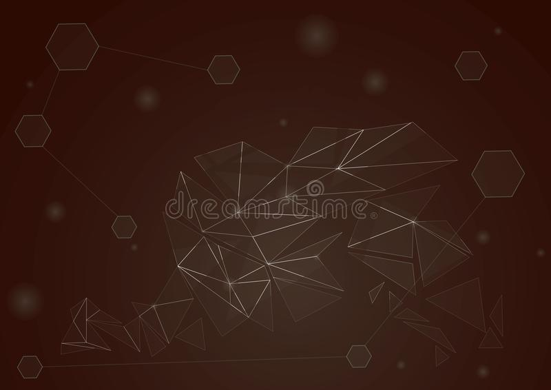 Stile tecnologico futuristico astratto Detrito ricadente illustrazione vettoriale