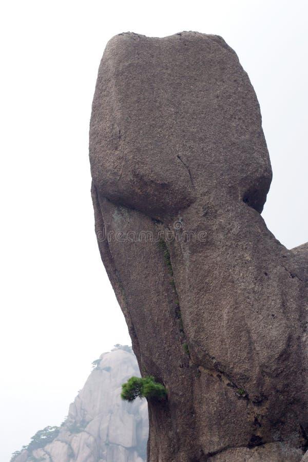 Stile unico della Cina Huangshan della pietra fotografie stock libere da diritti