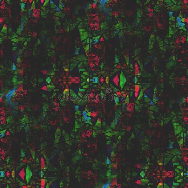 Stile verde dell'immagine della carta da parati e rosso senza cuciture illustrazione di stock