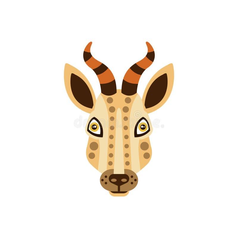 Stileerden de gazelle Afrikaanse Dieren Geometrisch Hoofd royalty-vrije illustratie