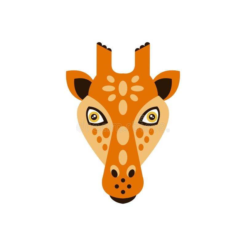 Stileerden de giraf Afrikaanse Dieren Geometrisch Hoofd royalty-vrije illustratie