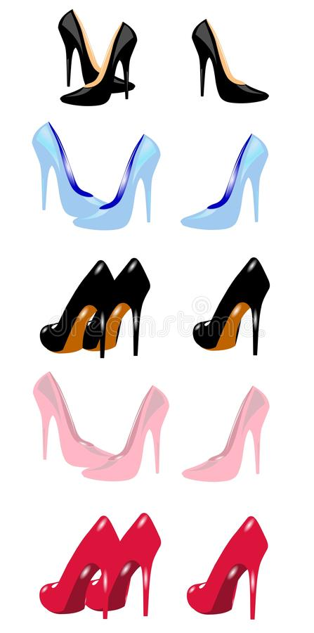 Stiletto heels group royalty free illustration