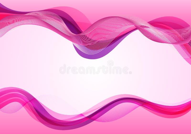 Stilfull abstrakt rosa bakgrund royaltyfri illustrationer