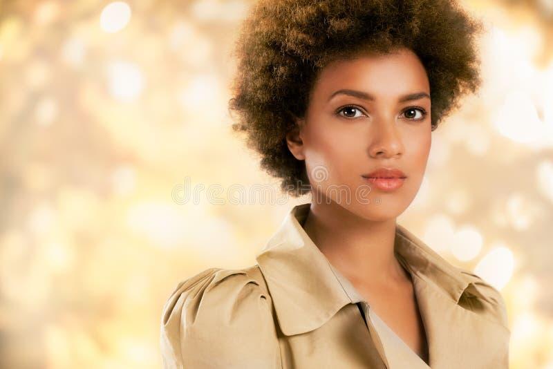 Stilfull afrikansk amerikankvinna arkivfoton