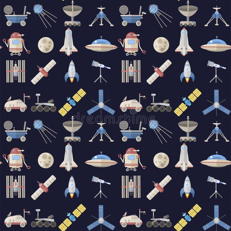 Stilfull anslutning för vetenskap för meteor för teknologi för universum för kosmos för radar för astrologi för bakgrund för mode royaltyfri illustrationer