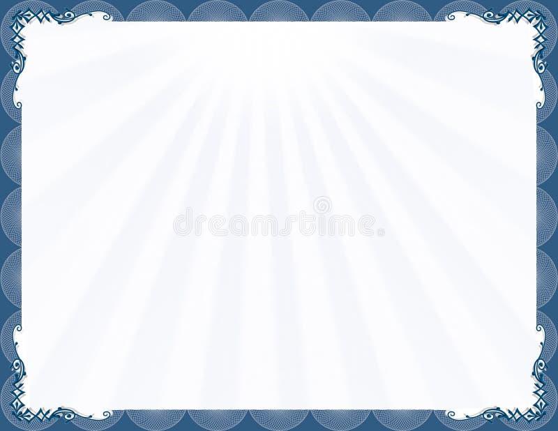 stilfull blå elegant ram royaltyfri illustrationer