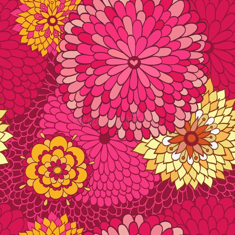 Stilfull blom- bakgrund royaltyfri illustrationer