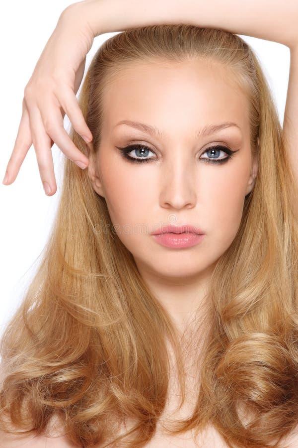 stilfull blondin royaltyfria bilder