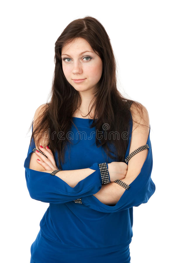 stilfull härlig flicka royaltyfri fotografi