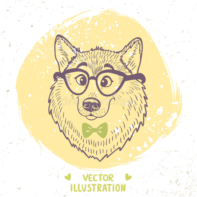 Stilfull hund vektor illustrationer