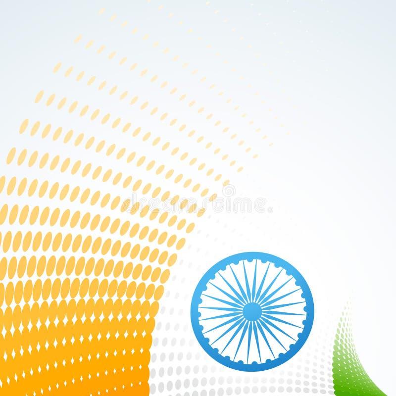 Stilfull indisk flaggadesign royaltyfri illustrationer