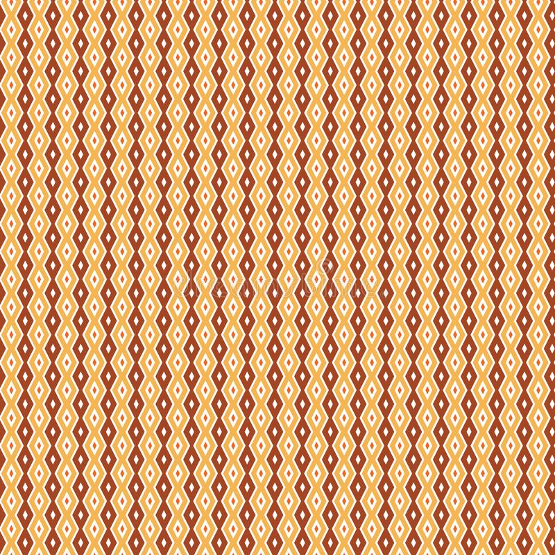 Stilfull infödd rombDiamond Ethnic Zig Zag Pattern bakgrund stock illustrationer