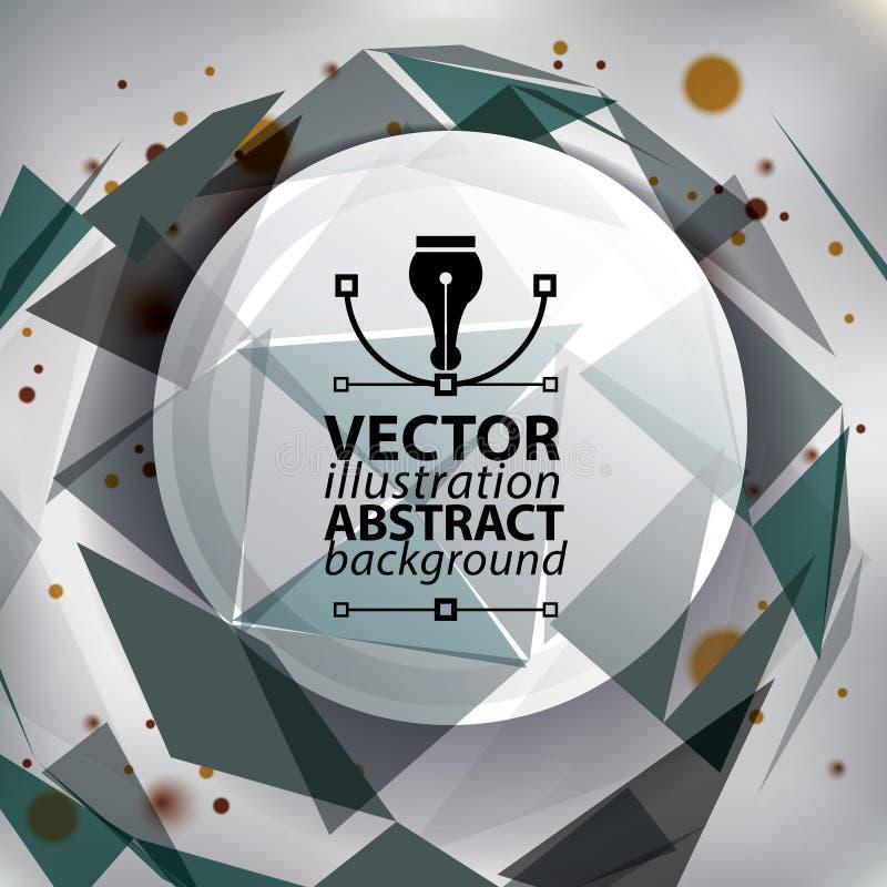 Stilfull konstruktion för modern tech, abstrakt begrepp vektor illustrationer