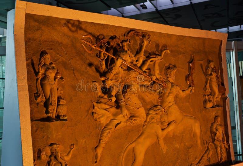 Stilfull lera gjorde skulptur av det unika fotoet för den hinduiska religiösa guden fotografering för bildbyråer
