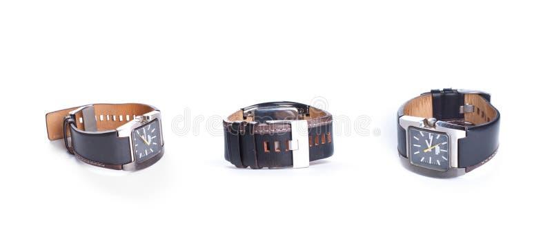 Stilfull märkt klocka-, lyx- och stiltillbehör royaltyfri bild