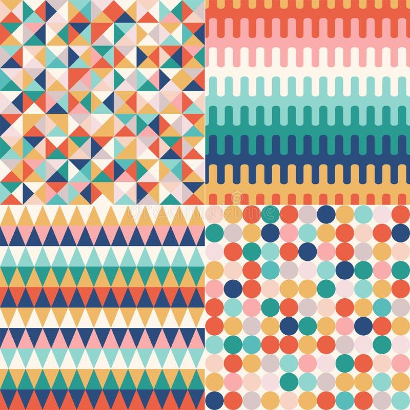 Stilfull mångfärgad geometrisk modern modell för idérik sömlös hipster vektor illustrationer