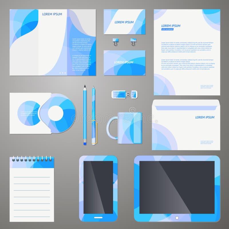 Stilfull mall för företagsmärkesdesign royaltyfri illustrationer