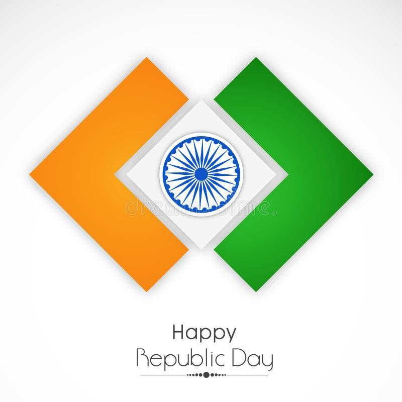 Stilfull nationsflagga för indisk republikdagberöm royaltyfri illustrationer