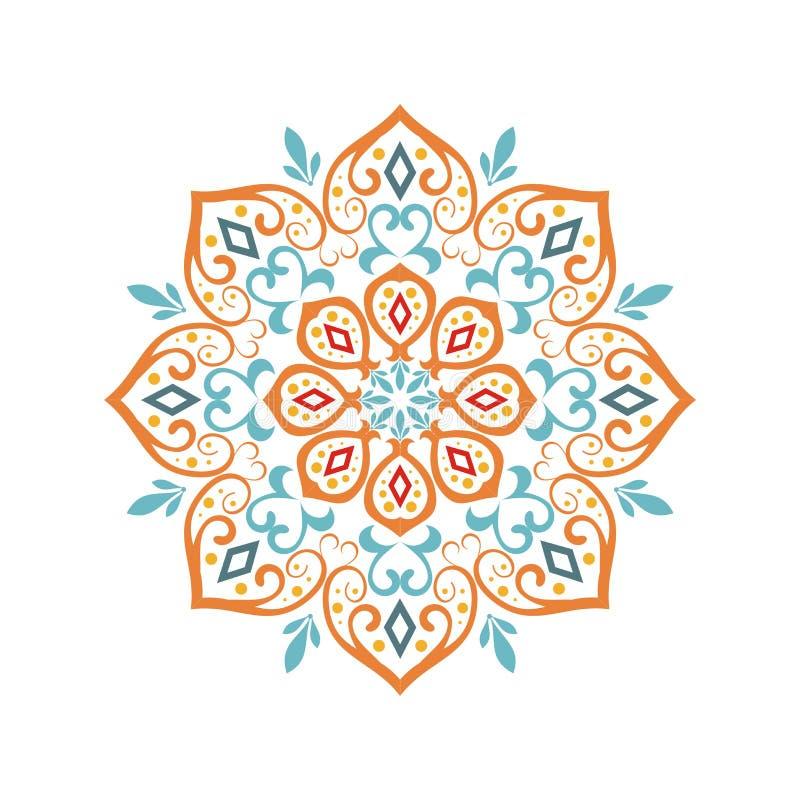 Stilfull och elegant mandaladesign vektor illustrationer