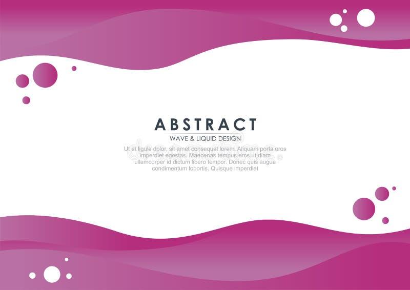 Stilfull och f?rgrik abstrakt flytande - v?gdesign stock illustrationer