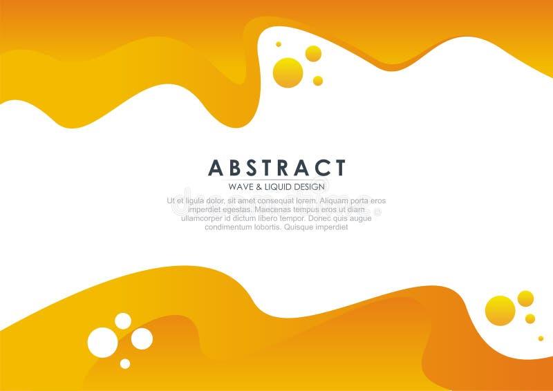 Stilfull och f?rgrik abstrakt flytande - v?gdesign vektor illustrationer