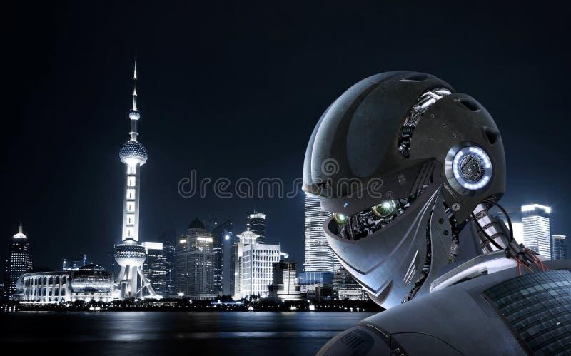 Stilfull robot arkivbild