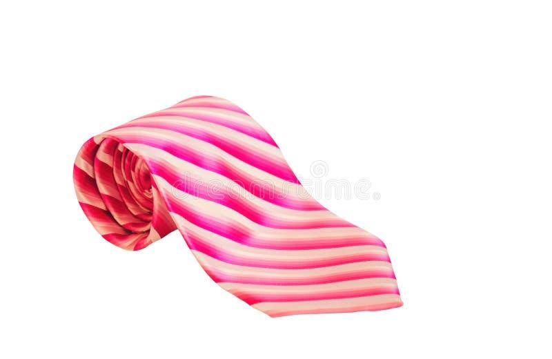 Stilfull rosa rullande slips som isoleras på vit bakgrund royaltyfri fotografi