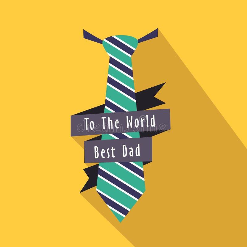 Stilfull slips för lyckliga faders dag stock illustrationer