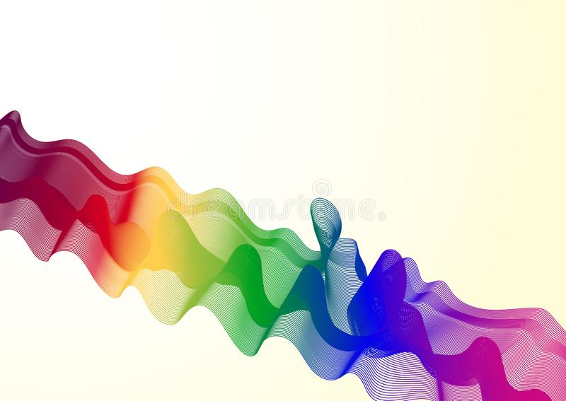 Stilfull tapet med abstrakta mångfärgade vågor vektor illustrationer
